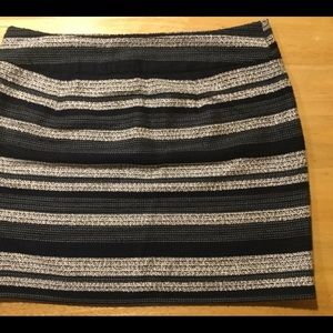 Loft striped lined skirt. 19 inches.